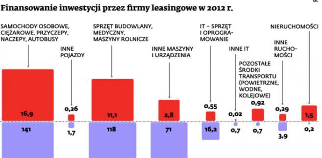 Finansowanie inwestycji przez firmy leasingowe w 2012 r.