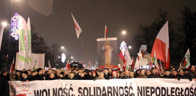 Marsz PiS w Warszawie