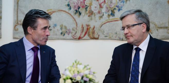 Anders Fogh Rasmussen podczas spotkania z Bronisławem Komorowskim