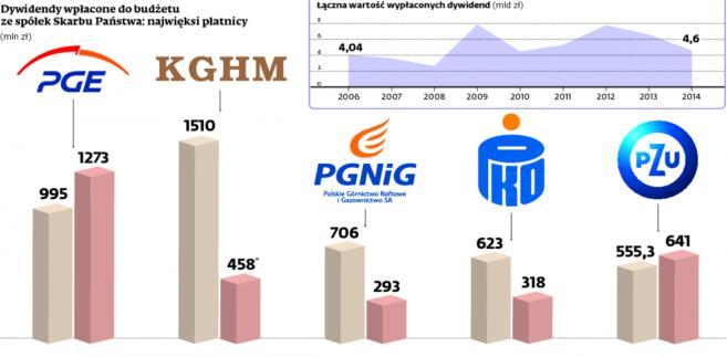 Najhojniejszym donatorem państwa będzie PGE. Wypłaci 1,3 mld zł