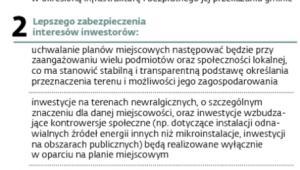 Cele małej noweli ustawy o planowaniu i zagospodarowaniu przestrzennym