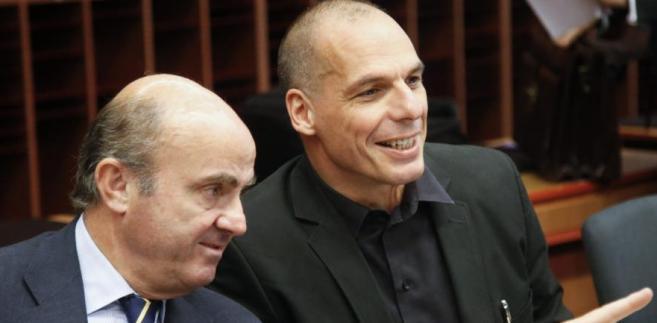 Grecki minister finansów Yanis Varoufakis (po prawej)