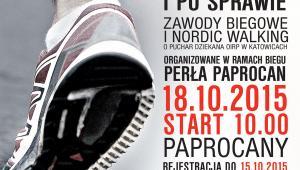Zawody biegowe i nordic walking - plakat