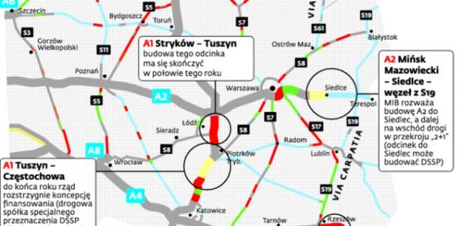 Tych odcinków potrzeba do zakończenia budowy sieci autostrad w Polsce