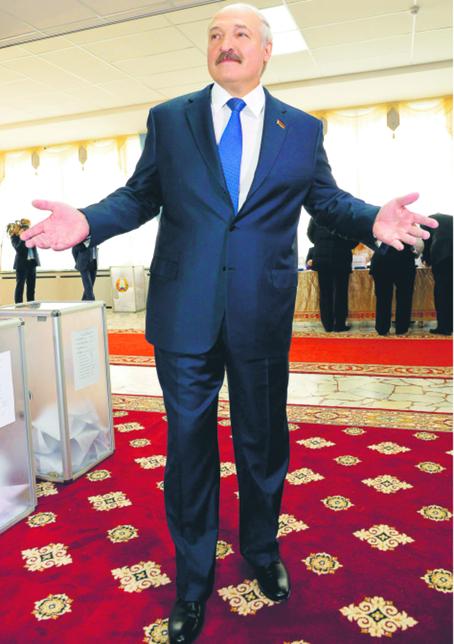 Prezydent Białorusi Alaksandar Łukaszenka