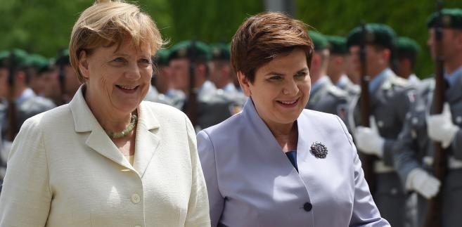 Kanclerz Niemiec Angela Merkel i premier Beata Szydło