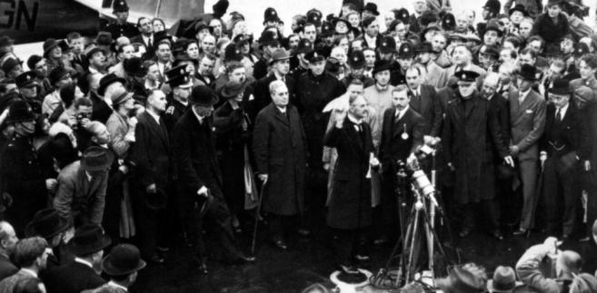 Chamberlain w Monachium, 1938 rok