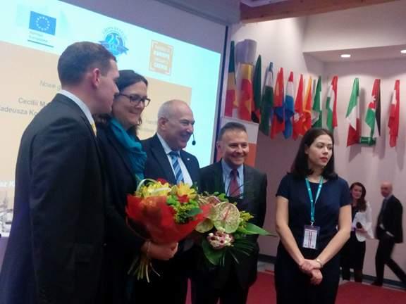 Cecilia Malmström, Tadeusz Kościński i prof. Witold Orłowski