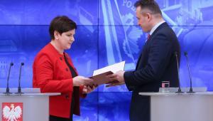 Premier Beata Szydło i nadinsp. Tomasz Miłkowski