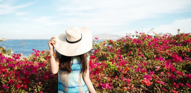 kobieta, lato, wakacje