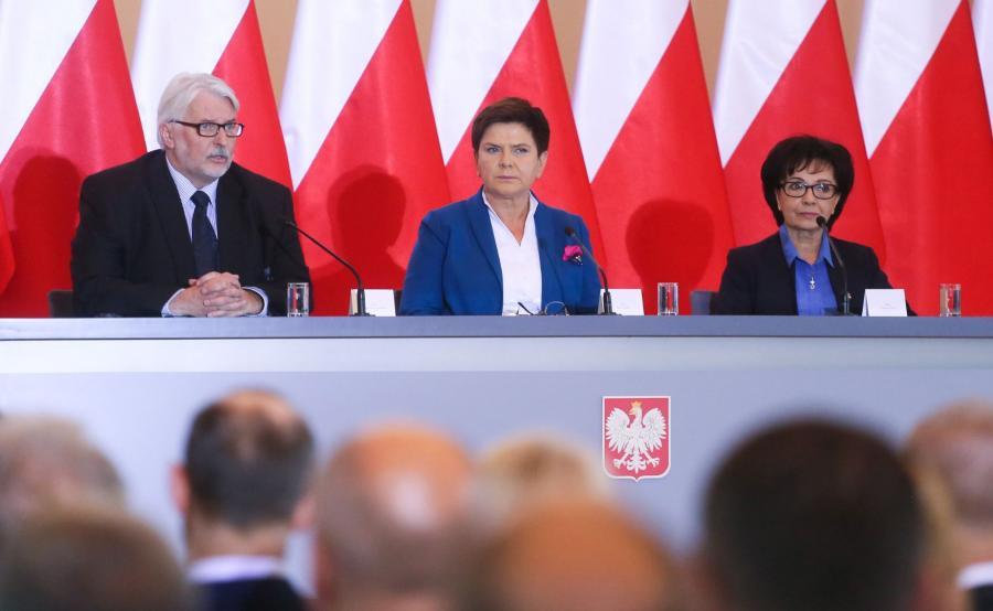 Beata Szydło, Witold Waszczykowski, Elżbieta Witek