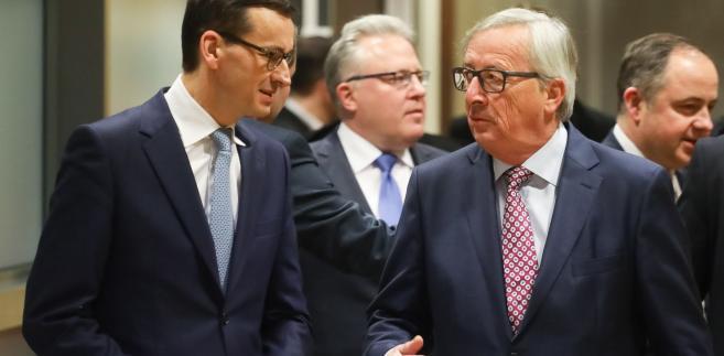 Mateusz Morawiecki i Jean-Claud Juncker