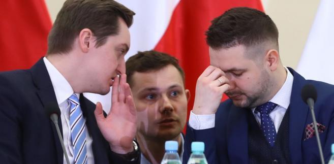 Członkowie komisji weryfikacyjnej: Sebastian Kaleta i Patryk Jaki