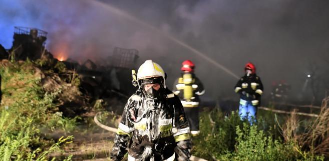 składowisko śmieci pożar