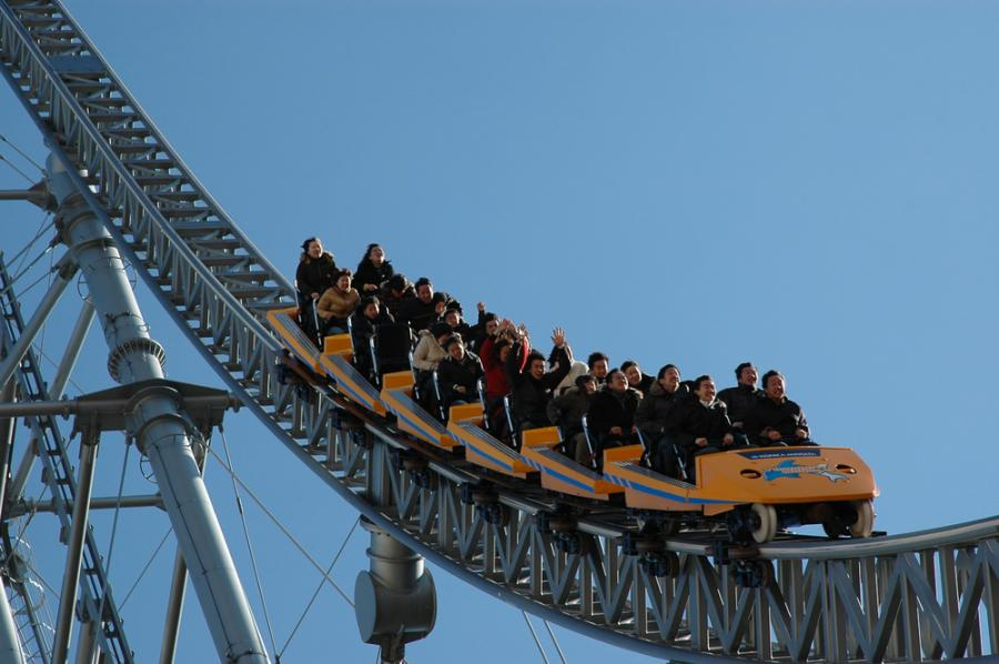 roller coaster, rozrywka, kolejka górska