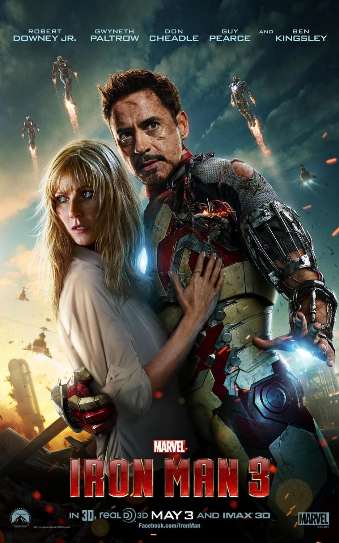 "Gwyneth Paltrow i  Robert Downey Jr. w filmie ""Iron Man 3"""
