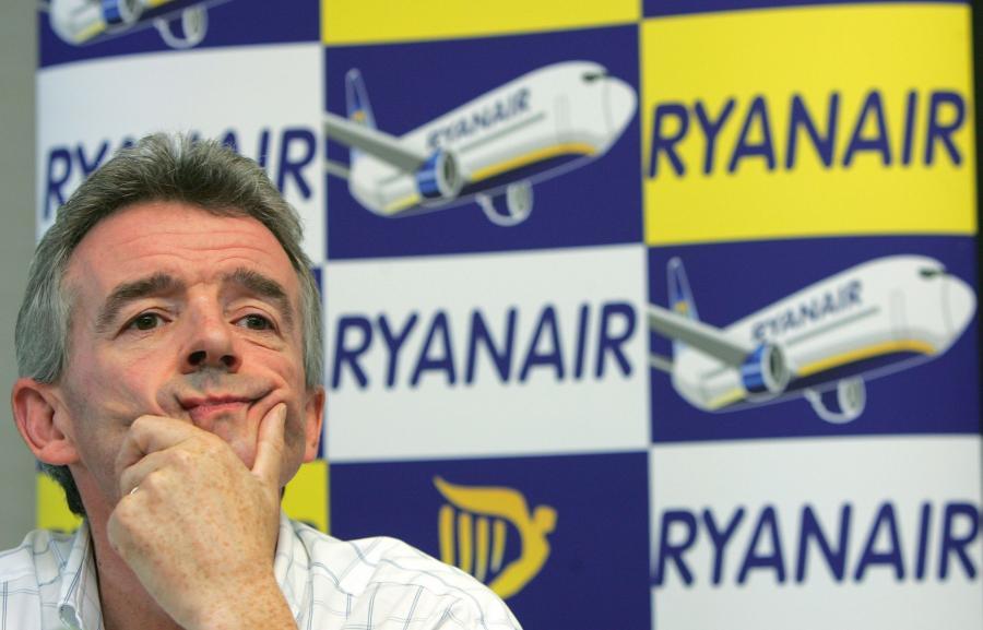 Szef tanich linii lotniczych Rynair Michael O' Leary.
