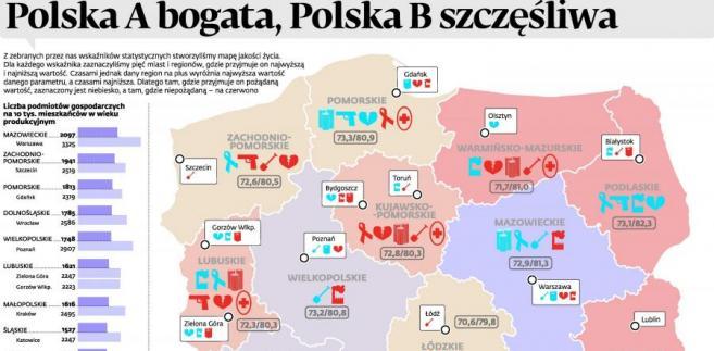 Polska mapa szczęścia