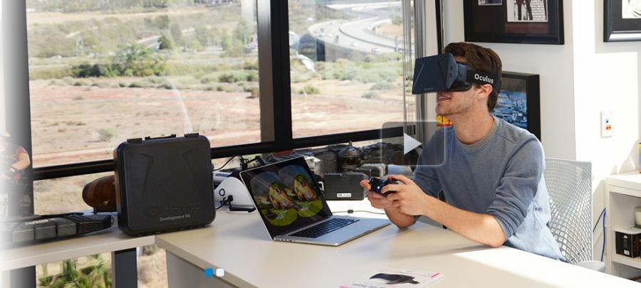 Oculus Rift: Crystal Cove Prototype (fot. http://www.oculusvr.com/)