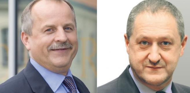"""Od lewej: KRZYSZTOF PRZYBYŁ, prezes Fundacji """"Teraz Polska"""" oraz MARIUSZ GAZDA, prezes SKOK w Wołominie"""