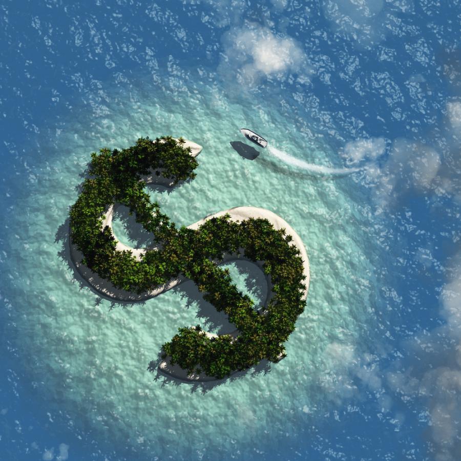 wyspa, pieniądze, dolar