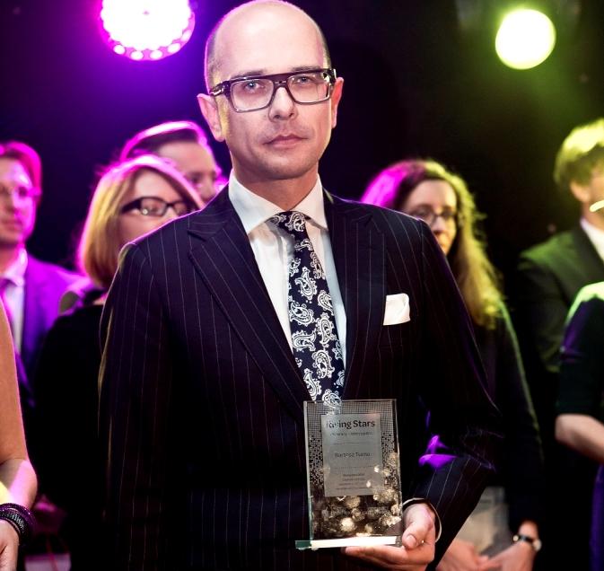 Bartosz Turno; gala Rising Stars 2014 / fot. Wojtek Górski