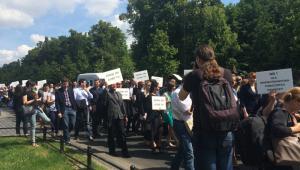 Protest adwokatów/ fot. Anna Krzyżanowska- Prawnik.pl