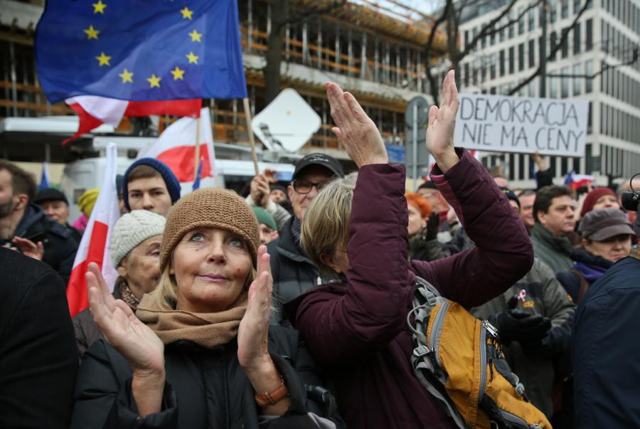 Manifestacja KOD Warszawa