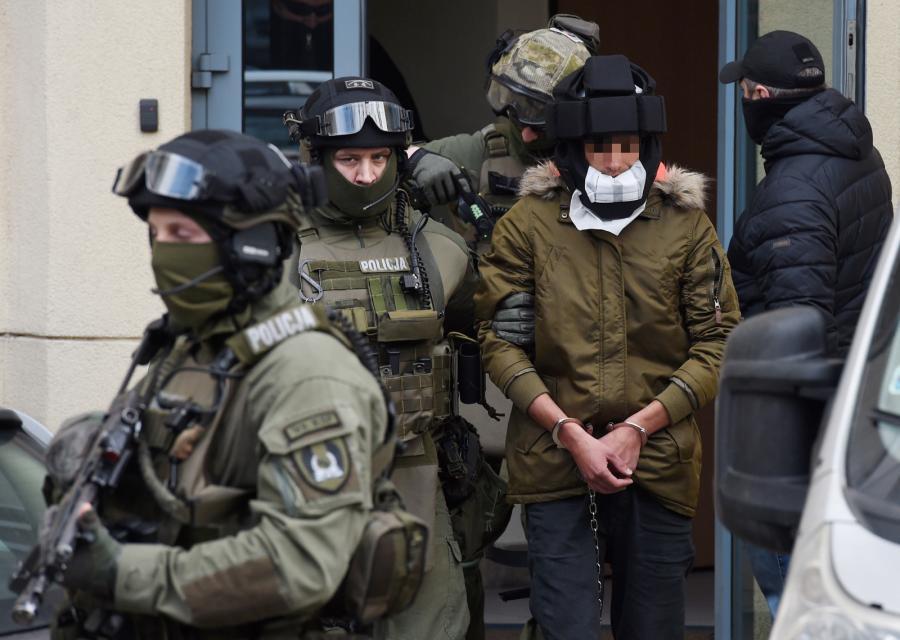 Kajetan P. wyprowadzany z Prokuratury Okręgowej, PAP/Radek Pietruszka