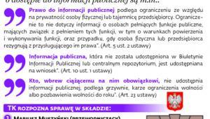 Dostęp do informacji publicznej w trybunale