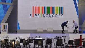 Przygotowania do rozpoczynającego się Kongresu 590 w Centrum Wystawienniczo-–Kongresowym w Jasionce k. Rzeszowa.