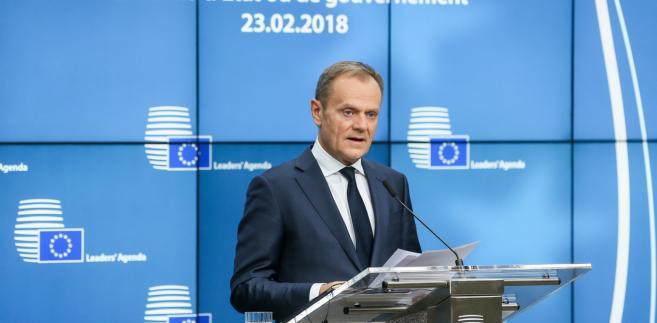 Wystąpienie szefa Rady Europejskiej Donalda Tuska po zakończeniu nieformalnego szczytu przywódców 27 państw UE w Brukseli.