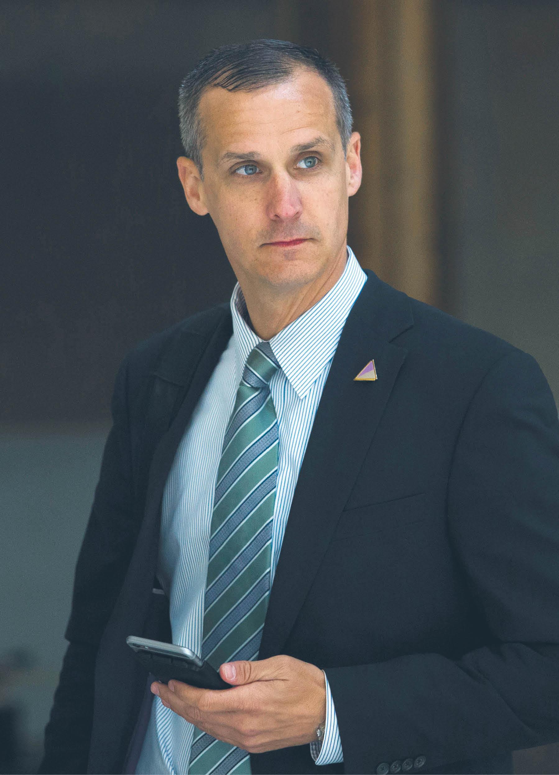Corey Lewandowski, szef kampanii prezydenckiej Donalda Trumpa 2015–2016 r.