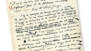 Rękopis listu Ignacego Paderewskiego do szefa brytyjskiego rządu Davida Lloyda Georgea z 15 sierpnia 1919 r.