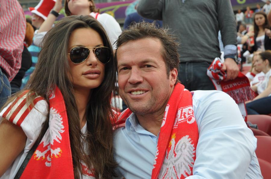 Joanna Tuczyńska ze swoim chłopakiem - Lotharem Matthaeusem, byłym niemieckim piłkarzem