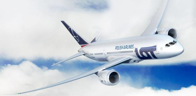 Wizualizacja Boeinga 787 w barawach Polskich Linii Lotniczych LOT